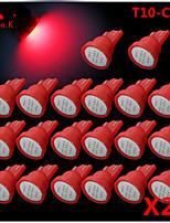 alta potência 20 x espiga vermelha t10 194 168 12v levou lâmpadas instrumento traço