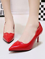 Women's Shoes Patent Leather Pumps Comfort Pointed Toe Sexy Party OL Style Stiletto Heel