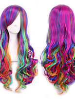 Japanese Harajuku Three Color Gradient Purple Wig Curly Hair Cos Wig
