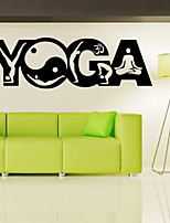 9500 Yoga Wall Stickers , Yoga Poses OM AUM WALL VINYL STICKER DECALS ART MURAL ,Yoga Wall Decor