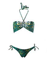 Bikini Da donna Fantasia floreale Push-up / Senza bretelline All'americana Nylon / Elastene / Felpato