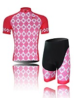 Women's Short Sleeve Pink Cycling Clothing Sets/Suits ShortsBreathable / Ultraviolet Resistant / Moisture
