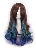 Cos Wig  Dark Three Color Gradient Japan Original SuFeng Curly Hair Wig