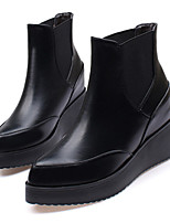 Women's Shoes Wedge Heel Bootie / Pointed Toe / Closed Toe Boots Dress / Casual Black