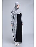 hijabtalk ™ manga morcego jilbabs cor bloco de patchwork abaya das mulheres muçulmanas