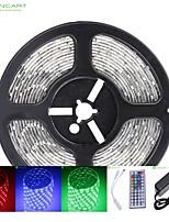 5m 75w 300x5050 smd dc12v striscia IP68 impermeabile luce + telecomando di RGB 44key + 12v 2a potere AC100-240V