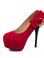 Women's Shoes PVC / Leatherette Stiletto Heel Heels Heels Wedding / Office & Career / Dress / Casual Black / Blue / Red