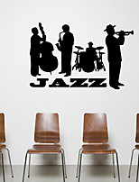 Music aw9472 JAZZ Wall Decals Shapes / People Wall Stickers Plane Wall Stickers,VINYL 57*53cm