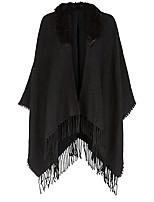 Casual Orlon Capes Sleeveless Fur Wraps / Shawls / Hoods & Ponchos