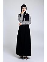 저녁 정장파티 드레스 - 블랙 A-라인 발목 길이 쥬얼리 쉬폰