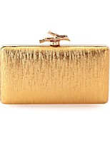 Women Evening Bag PU All Seasons Wedding Event/Party Formal Baguette Clasp Lock Silver Black Gold