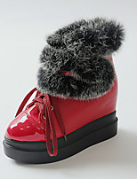 Women's Shoes  Wedge Heel Round Toe / Closed Toe Boots Office & Career / Athletic / Dress Black / Red / White