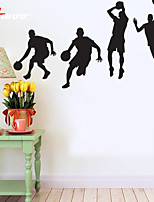 AWOO®  Four Men Play Basketball  Wall Stickers Home Decor  Vinyl Stickers For Kids Room Decoration