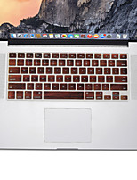 Modèle en bois de conception peau de silicone de couverture de clavier US pour MacBook Air 13,3, MacBook Pro Retina 13 15 17