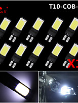10X best Ultra Bright T10 W5W 194 168 6W LED COB Side Lamp Wedge Light Bulb White 12V