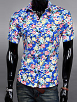 Broken beautiful summer men's cultivate one's morality shirt Leisure fashionable joker shirts with short sleeves GESE7