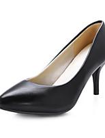 Women's Shoes PVC / Leatherette Stiletto Heel Heels Heels Wedding / Office & Career / Dress / Casual Black / Blue
