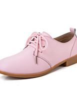 Damenschuhe-Oxfords-Lässig-Leder-Flacher Absatz-Komfort-Blau / Braun / Rosa / Weiß / Beige