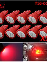 de alta potencia de 10 x mazorca roja t10 194 168 12V LED bombillas tablero de instrumentos