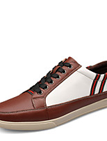 Men's Flats Spring / Summer / Fall / Winter Round Toe / Flats Leather Outdoor / Office & Career