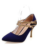 Women's Shoes Stiletto Heel Ankle Strap / Pointed Toe Heels Party & Evening / Dress Black / Blue / Red