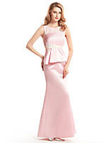 Trumpet/Mermaid Mother of the Bride Dress - Blushing Pink Ankle-length Sleeveless Satin