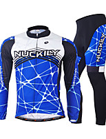 NUCKILY Outdoor Mountain Bike Riding Clothes Suit Male Autumn And Winter Thick Fleece Long-Sleeved Pants