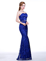 Formal Evening Dress - Royal Blue Trumpet/Mermaid Sweetheart Floor-length Lace