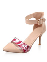 Women's Shoes Stiletto Heel Comfort / Pointed Toe Heels Wedding / Outdoor / Dress Black / Pink / White / Gold / Almond