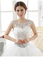 Wedding / Party/Evening Lace / Sequined Capelets Sleeveless Wedding  Wraps