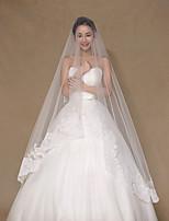 Wedding Veil One-tier Chapel Veils / Cathedral Veils / Veils for Short Hair Lace Applique Edge