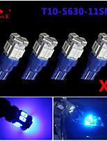 4X T10 W5W 192 168 194 7014 11SMD 5730 11 LED Blue Side lights LED Wedge Light 12V