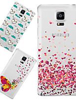 Para Samsung Galaxy Note Diseños Funda Cubierta Trasera Funda Dibujos TPU Samsung Note 4