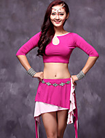 Belly Dance Outfits Women's Performance Modal Draped 2 Pieces Fuchsia / Green