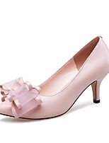 Women's Shoes Leather Stiletto Heel Heels / Pointed Toe Heels Office & Career / Party & Evening / Dress