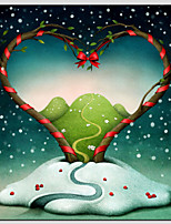Valentine's Day Oil Paintings Canvas Material With Wooden Stretcher Ready To Hang Size 70*70CM