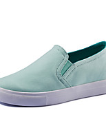 Women's Shoes Canvas Wedge Heel Comfort Fashion Sneakers Outdoor / Office & Career / Casual Blue / Green / Almond
