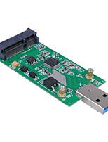 cwxuan® mini PCI-e mSATA na USB 3.0 externí SSD PCBA conveter karty adaptéru bez případ