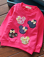 Girl's Color Spring  Kids Apparel Of 2016 Clothing Style Fabric Cotton T-shirt