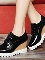 Women's Shoes Patent Leather Platform Creepers /Comfort Heels Office & Career / Party & Evening/Dress/Casual Black/White