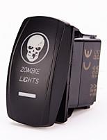 iztoss laser blå on-off vippströmbrytare w / bygel 5pin 20 amp 12 volt LED-lampor - zombie ljus