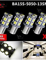 4x Super Bright White Ba15s 1156 Car Rear Turn Light Signal 13 LED SMD Bulb 12V