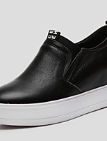 Women's Shoes Leather Platform Creepers Fashion Sneakers Office & Career/ Party & Evening/Dress/Casual Black/Red