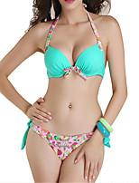 Womens Floral Push Up Padded Bikini Set