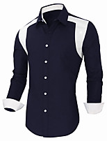 Men's Long Sleeve Shirt , Others Work / Formal Pure