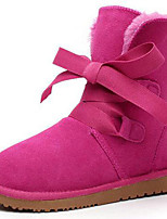 Women's Shoes Suede Flat Heel Snow Boots / Fashion Boots Boots Party & Evening / Casual Purple / Red