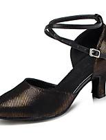 Chaussures de danse(Autre) -Personnalisables-Talon Personnalisé-Satin / Paillette Brillante-Latine / Moderne
