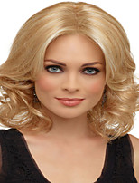 Blonde Color  Medium Synthetic Hair Wave Wigs Real High Quality