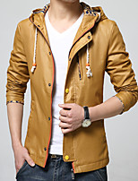 Men's Long Sleeve Casual / Work / Formal / Sport JacketPolyester Solid Blue / Gold