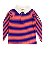 Girl's Multi-color Tee , Stripes Cotton Spring / Fall